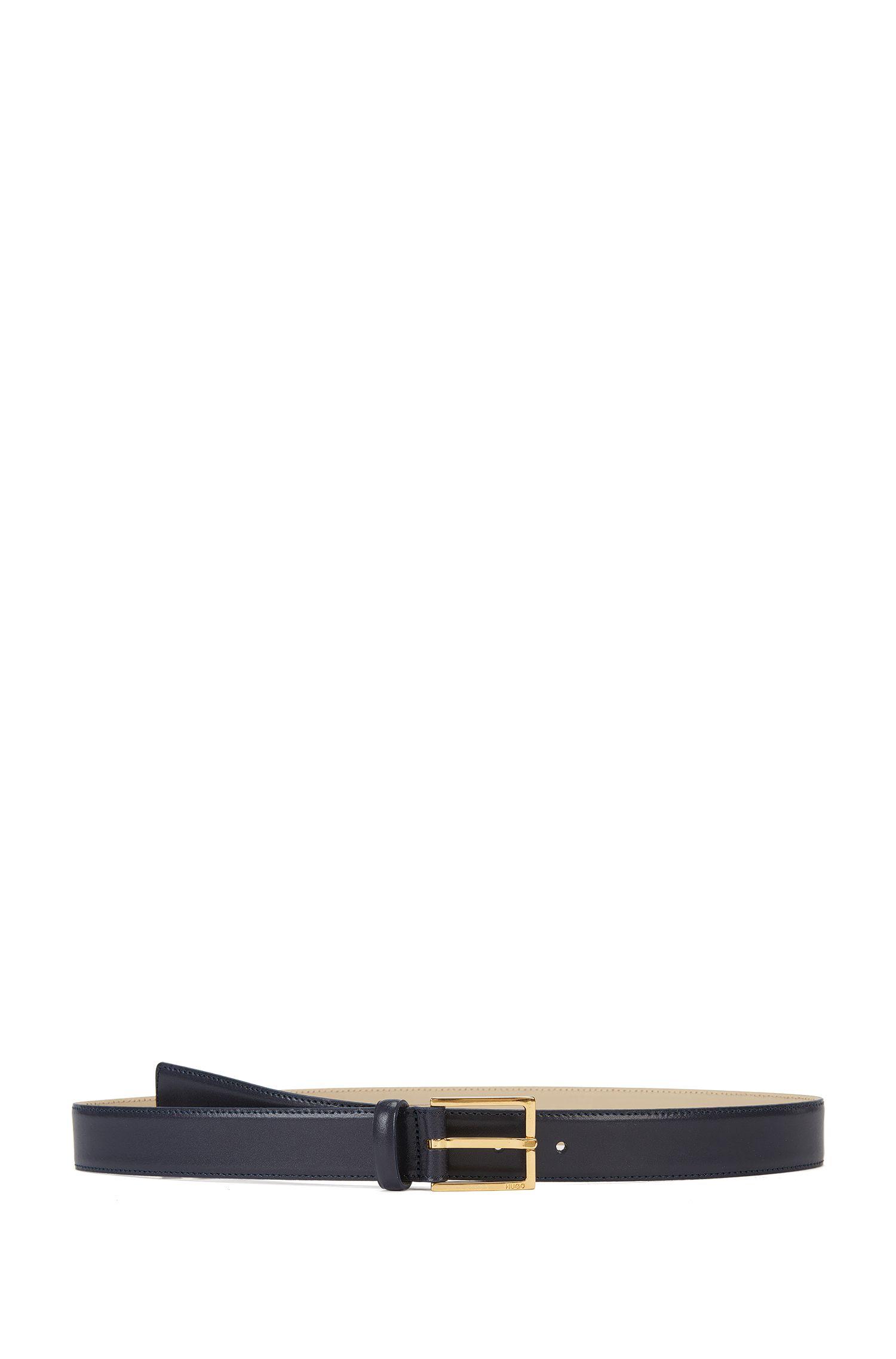 Cinturón business fabricado en Italia con piel lisa