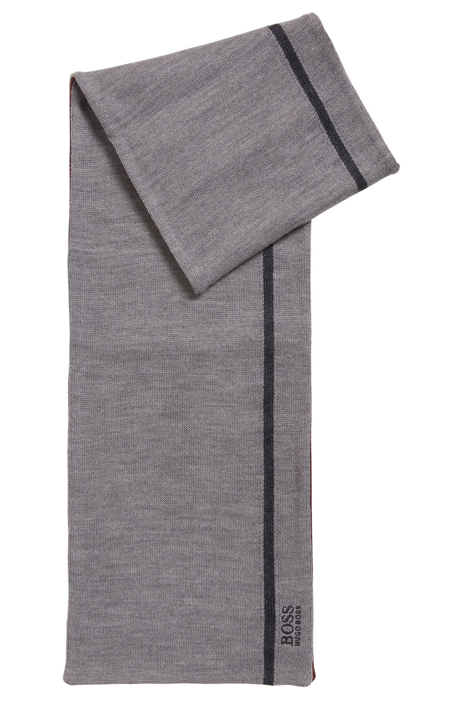 Écharpe en tissu double face à logo brodé