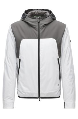 Regular-fit jacket in technical fabric, White