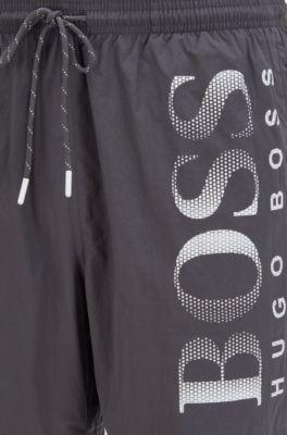 grey hugo boss swim shorts