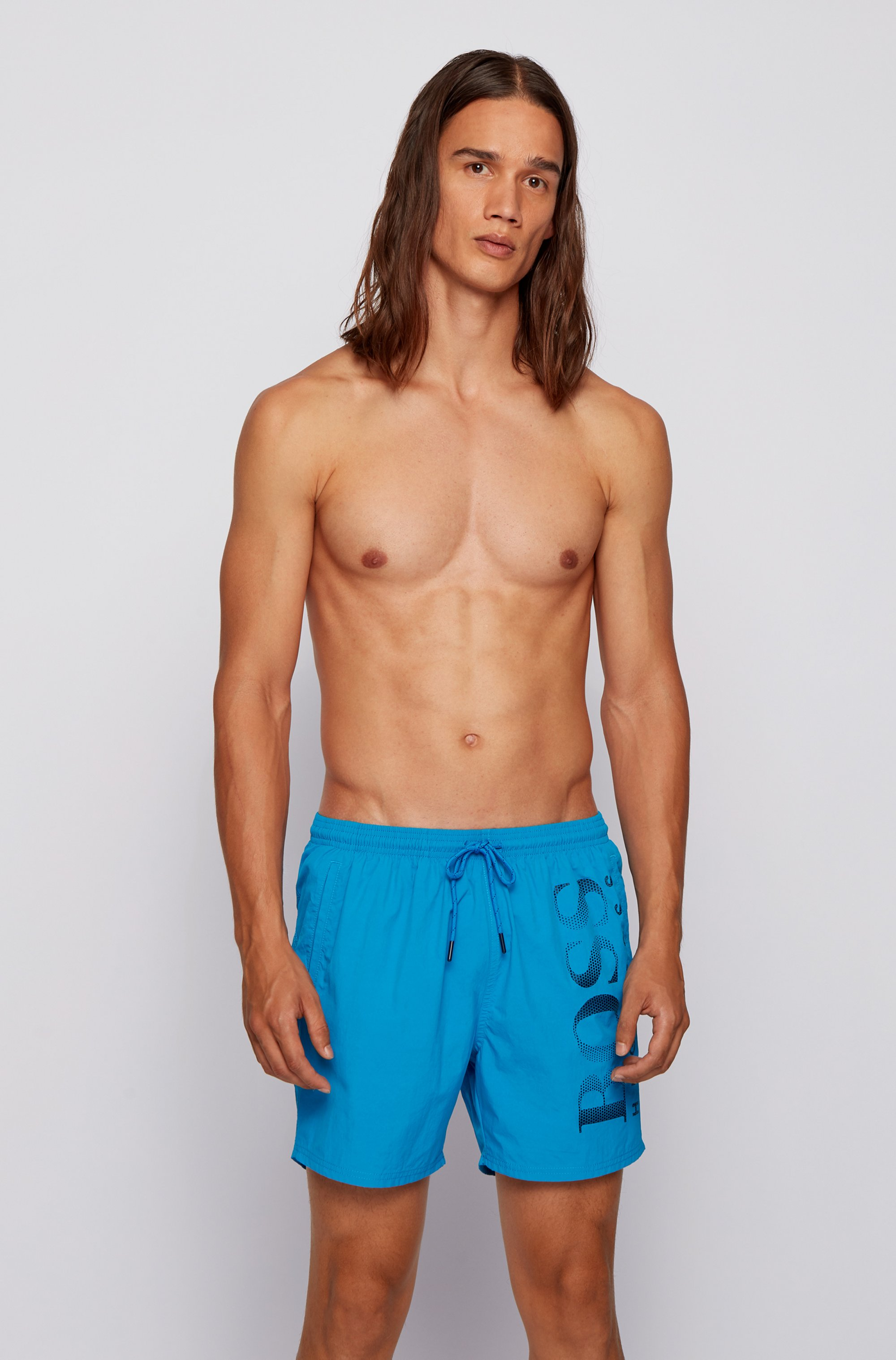 Logo-print swim shorts in technical fabric
