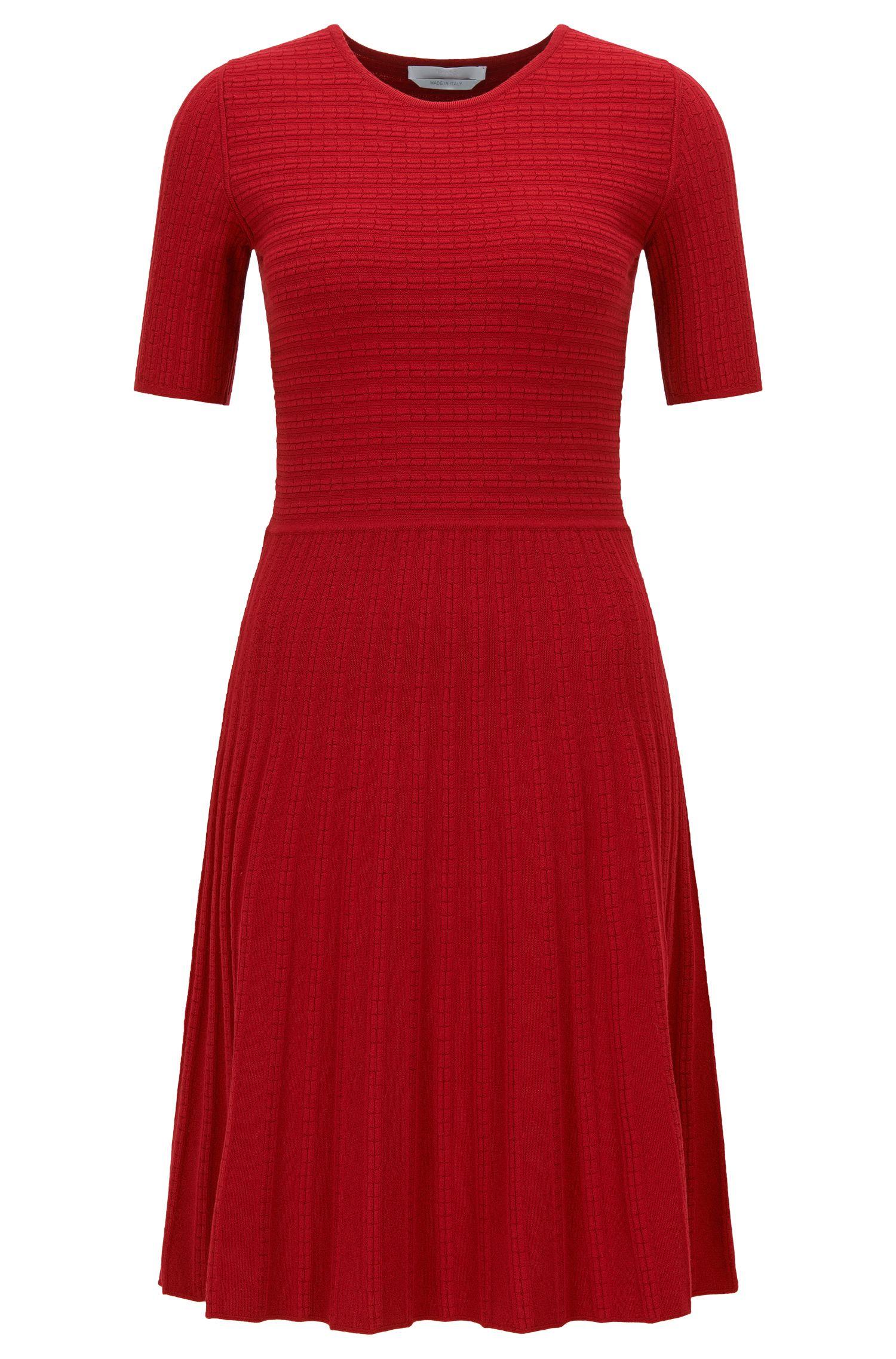 Kleid in A-Linie aus italienischem Stretch-Gewebe