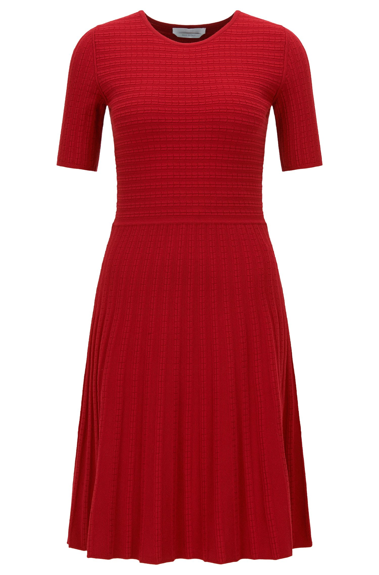 A-line dress in Italian stretch fabric