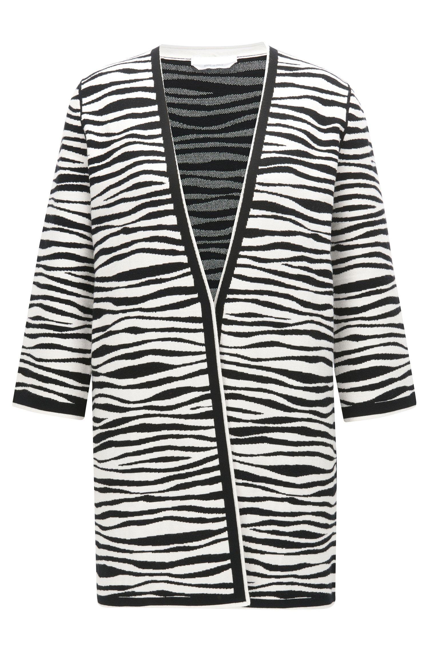 Regular-fit vest met zebraprint