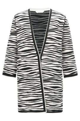 Regular-fit vest met zebraprint, Bedrukt