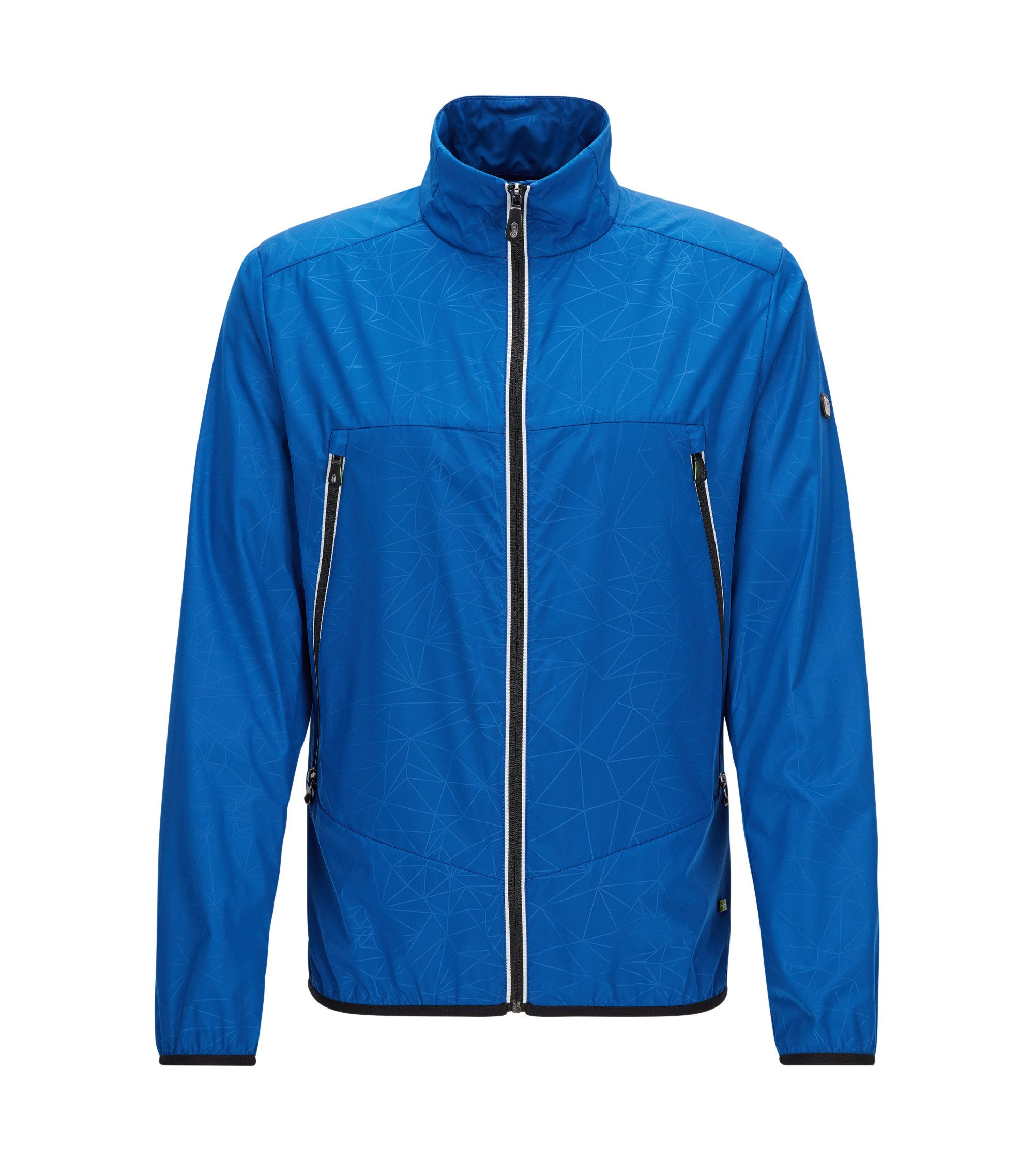 Veste Regular Fit en popeline imperméable, Bleu