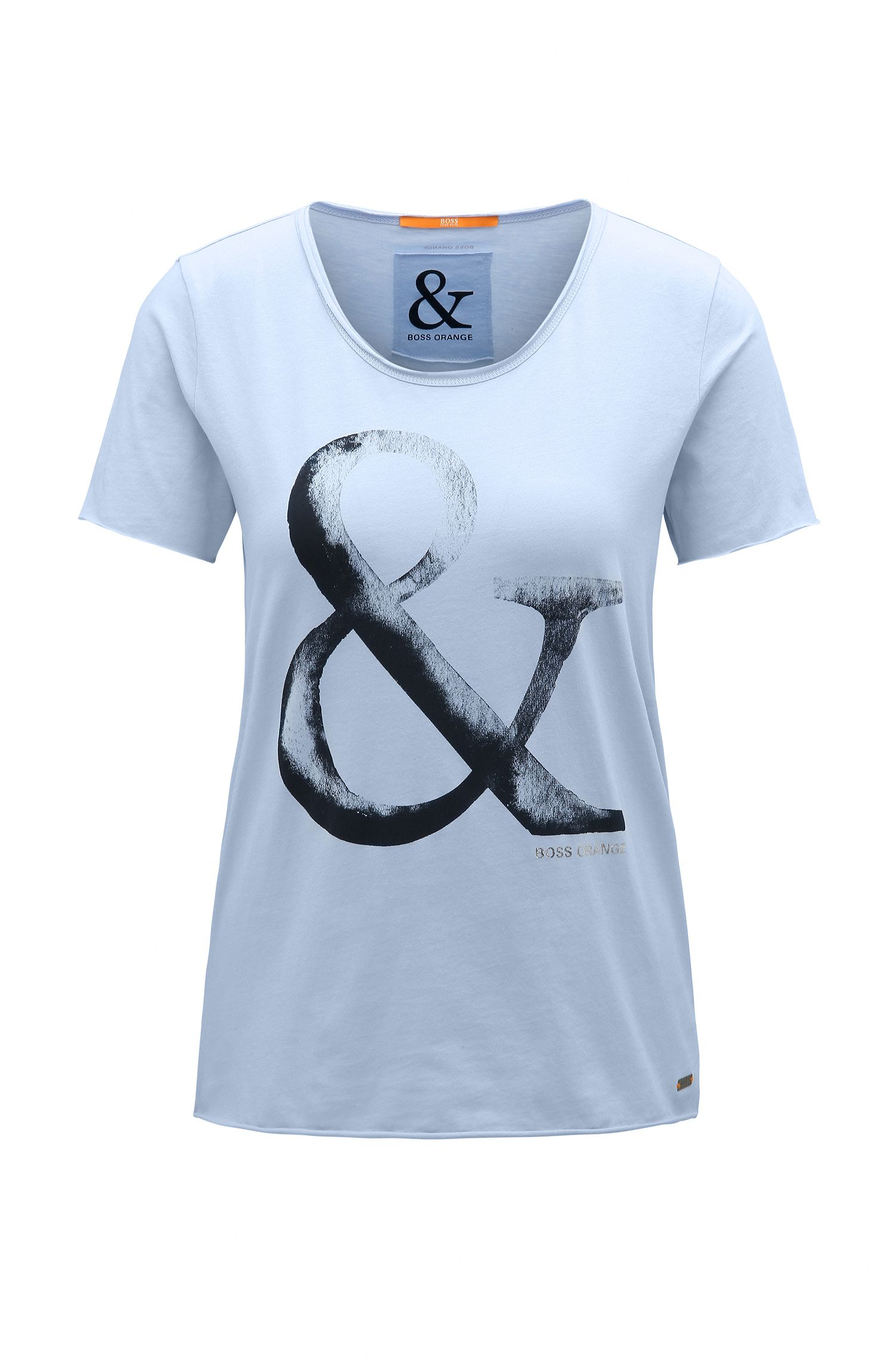 Slim-fit cotton T-shirt with ampersand print
