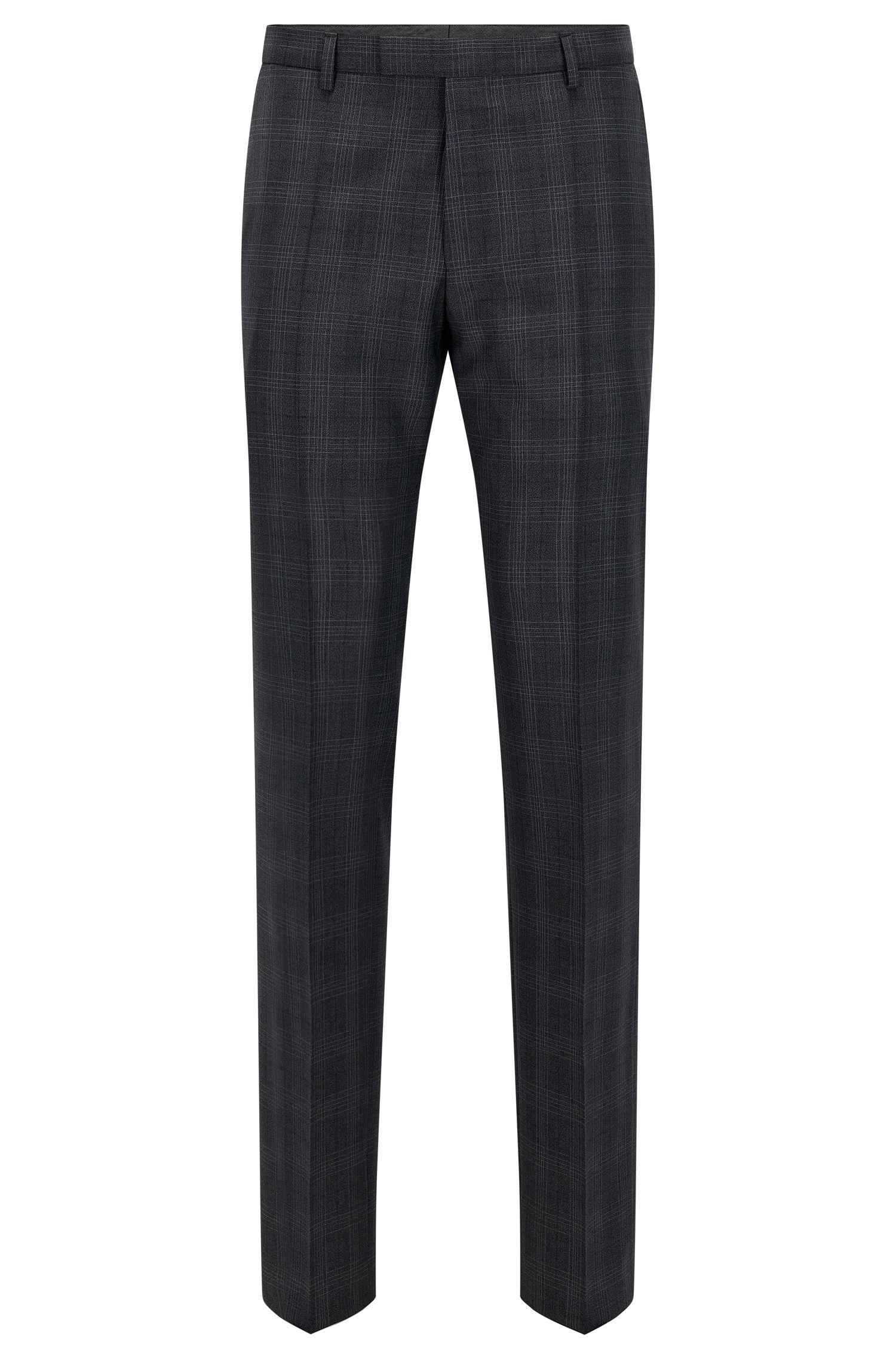 Pantalón regular fit en lana virgen