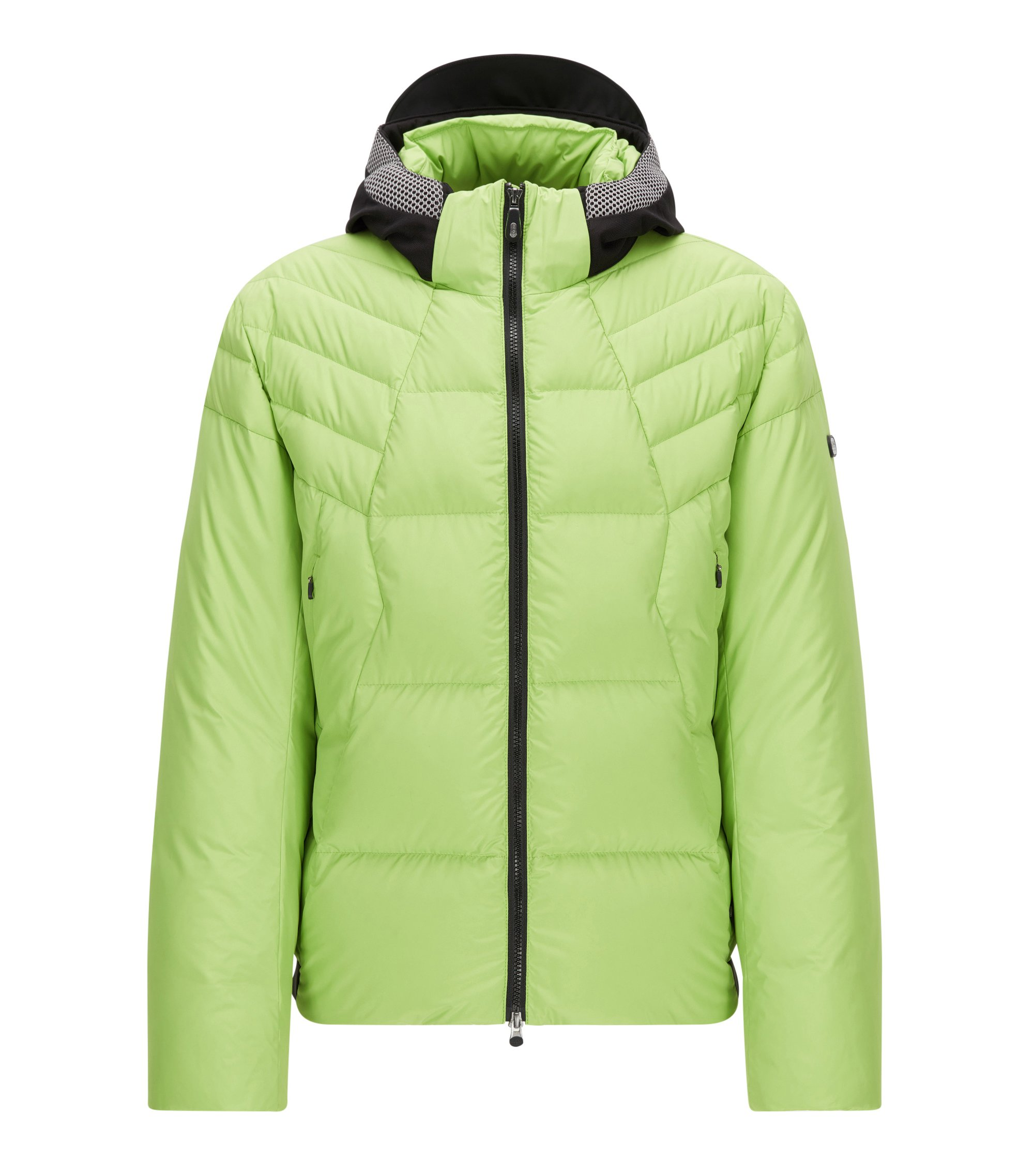 Regular-fit down jacket in technical fabric, Light Green