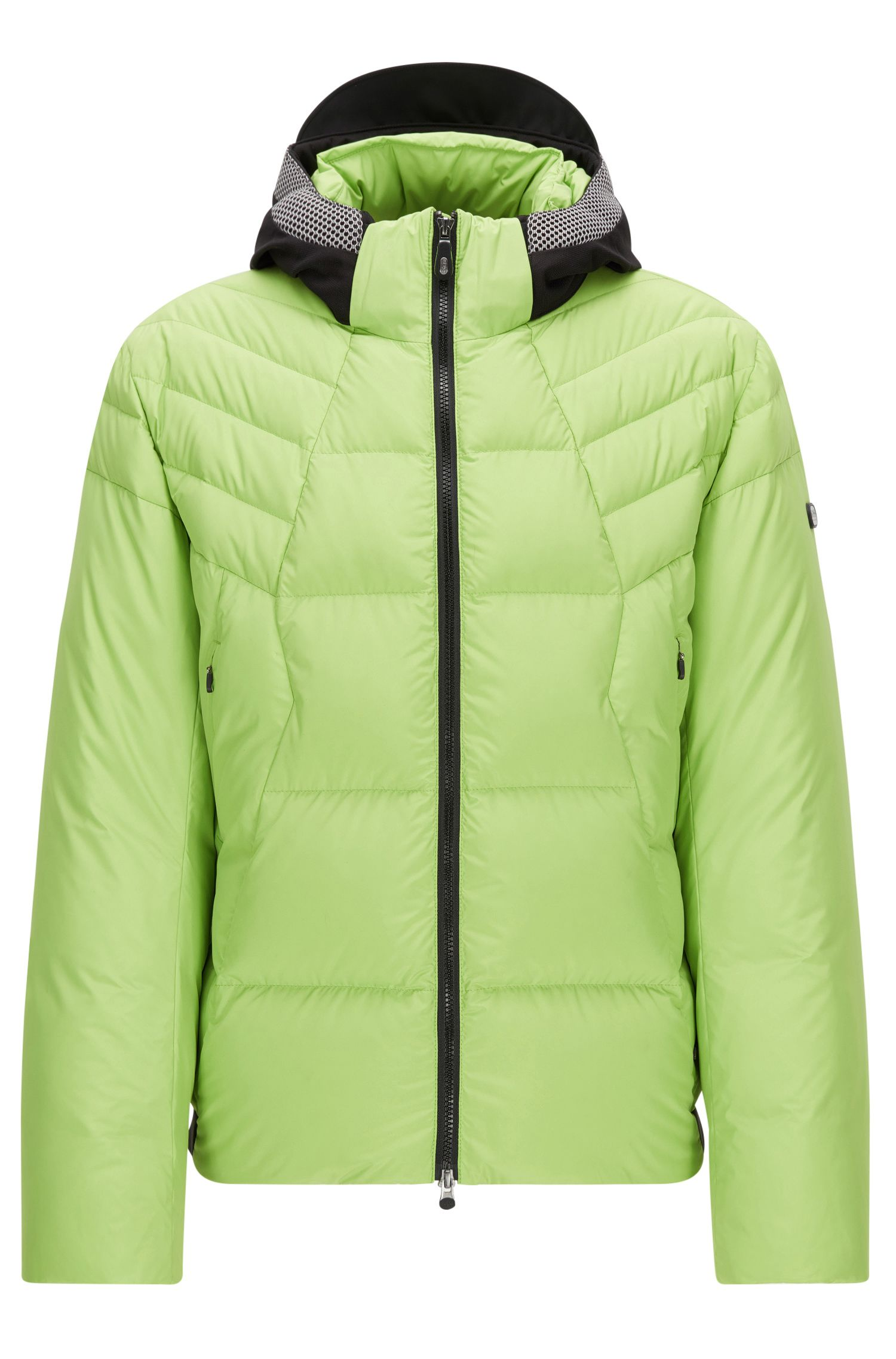 Regular-fit down jacket in technical fabric