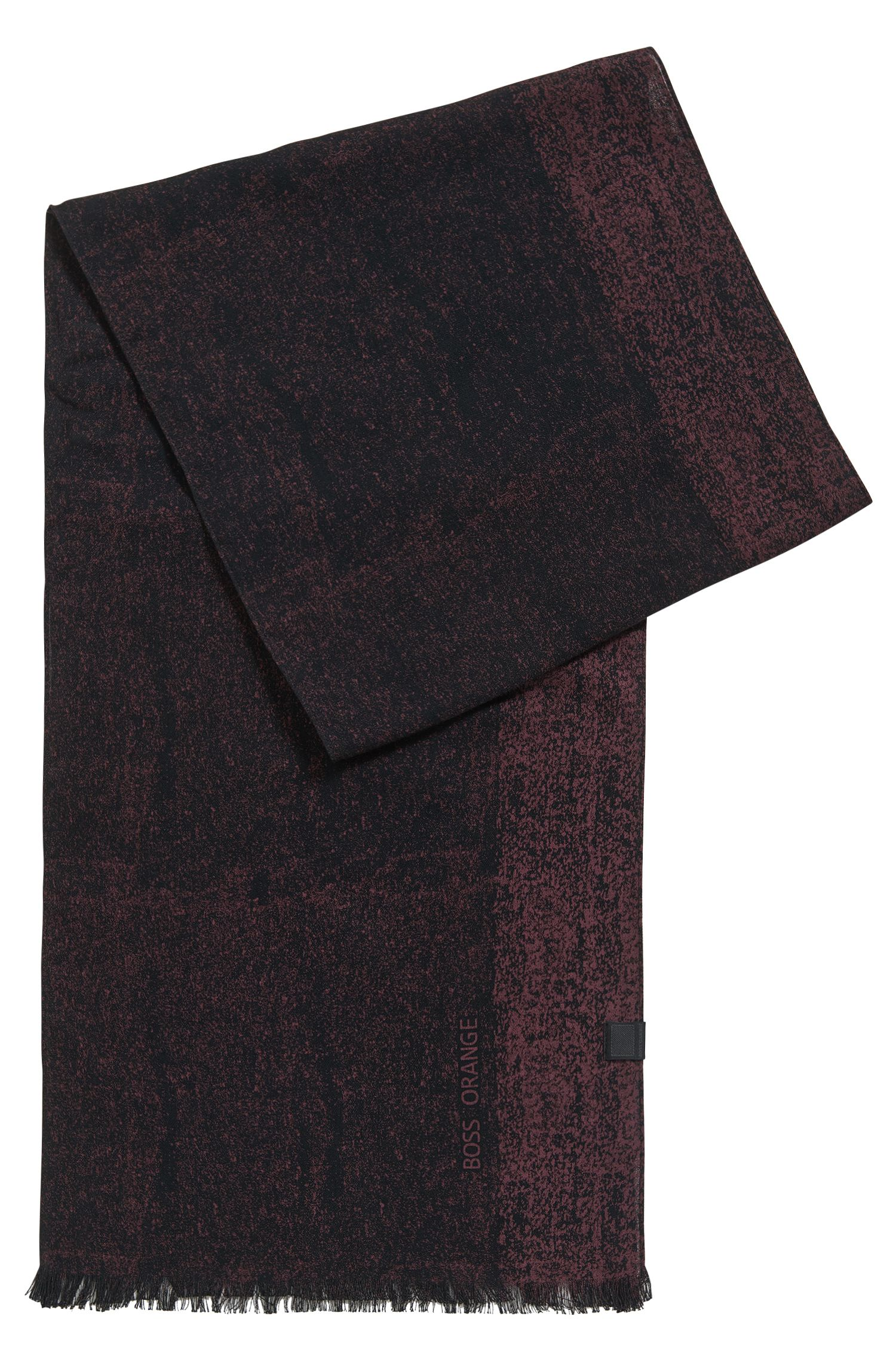 Cotton scarf with woven logo