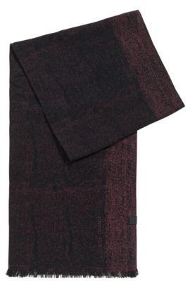 Baumwollschal mit gewebtem Logo, Schwarz