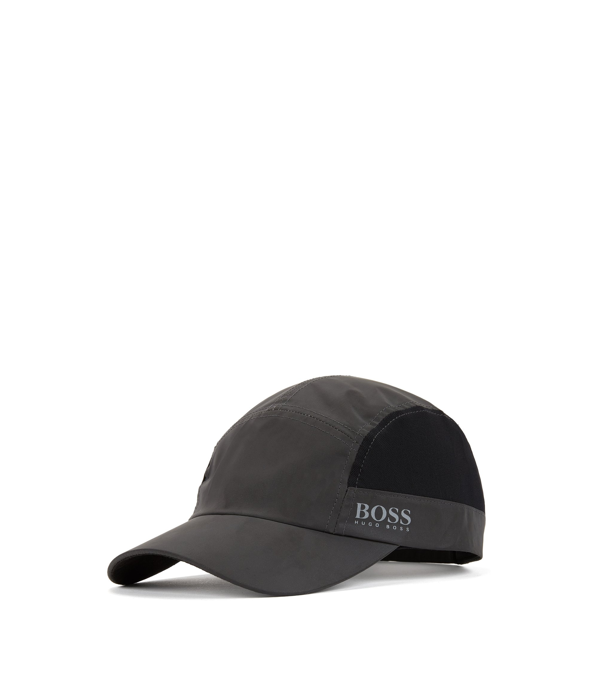 Baseball cap in reflective fabric, Anthracite