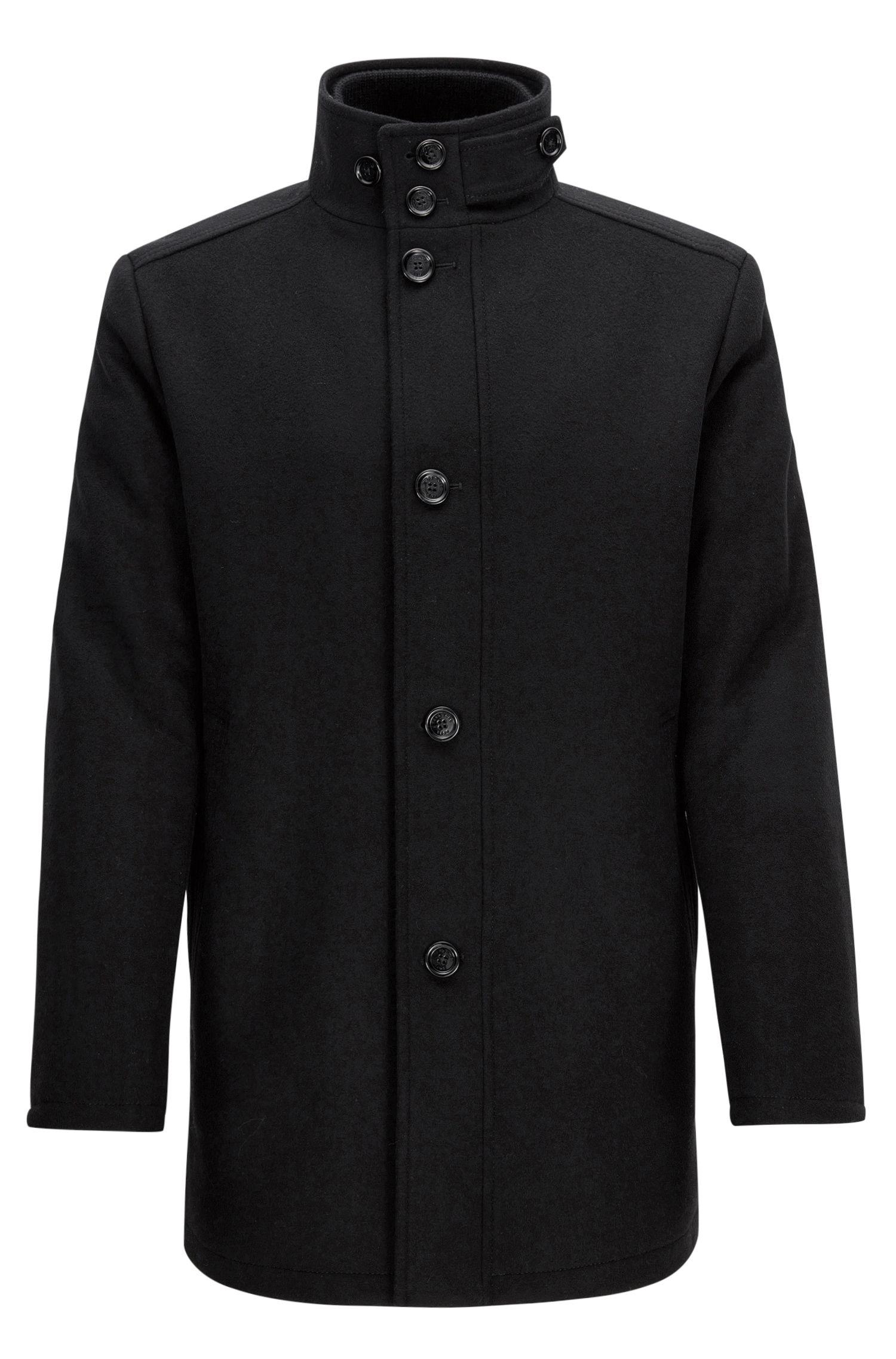 Stralingblokkerende mantel van wol en kasjmier