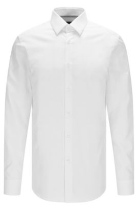 Camicia slim fit in cotone Royal Oxford, Bianco