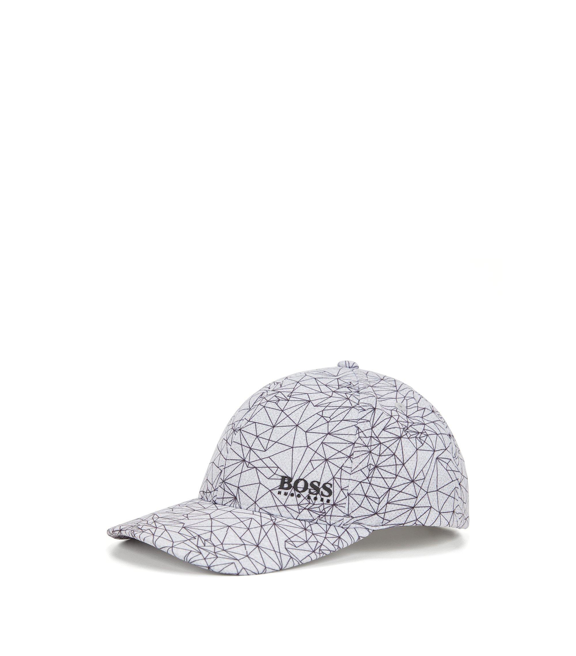 Cappellino da baseball con stampa in tessuto tecnico, Grigio chiaro