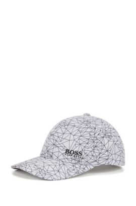 Printed baseball cap in technical fabric, Light Grey