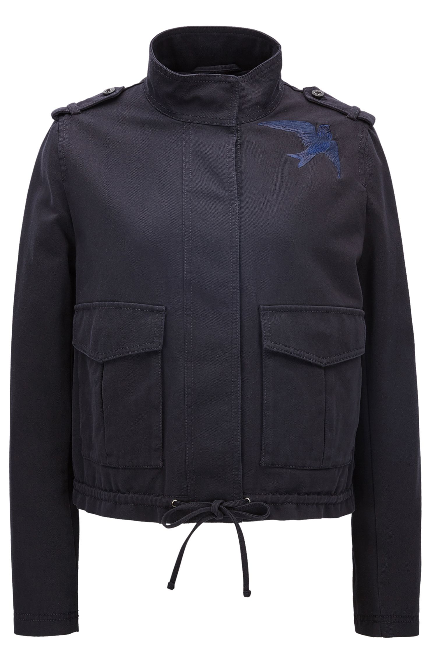 Relaxed-Fit Jacke aus Baumwolle