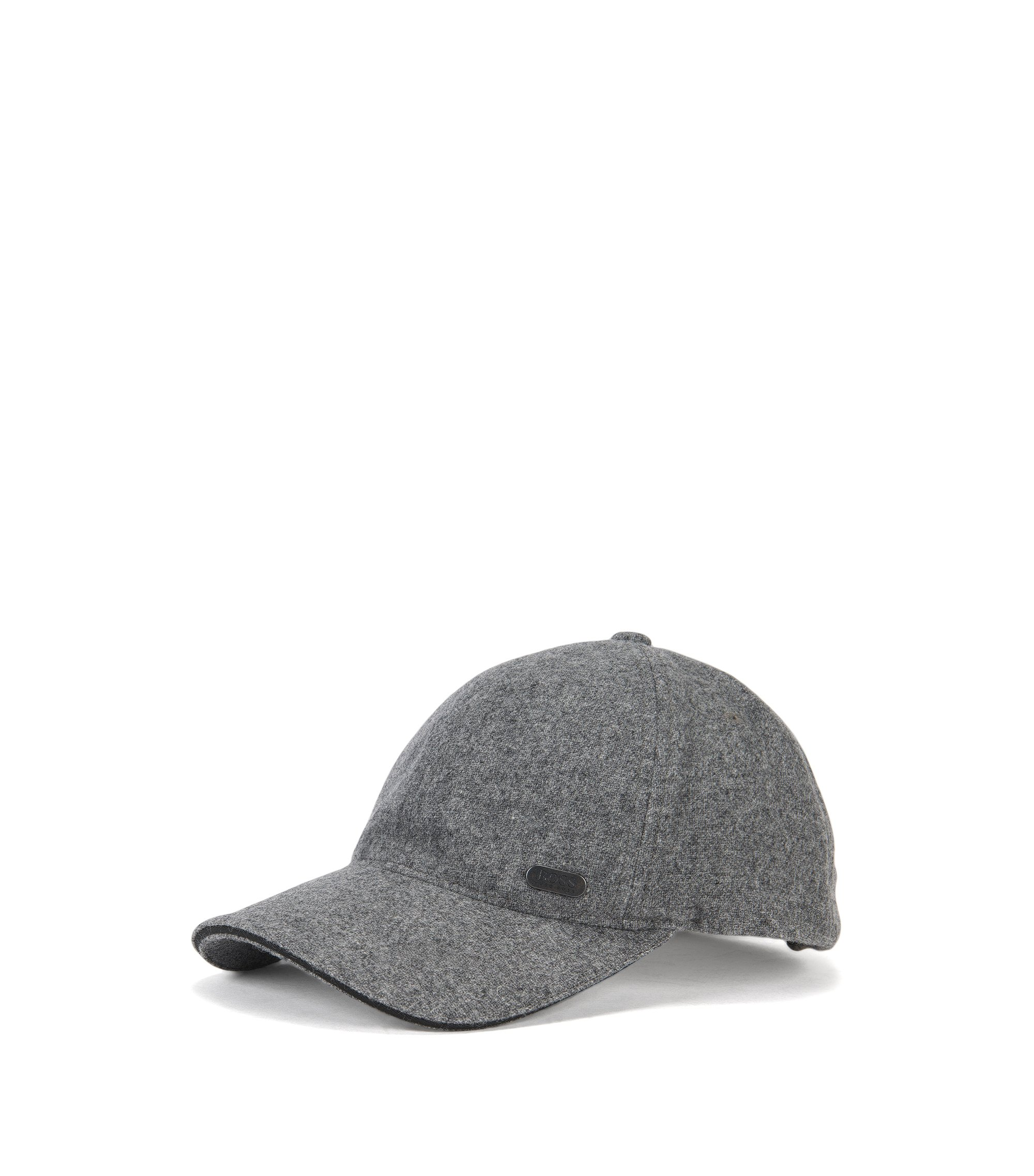 Baseball Cap aus elastischem Woll-Mix, Grau