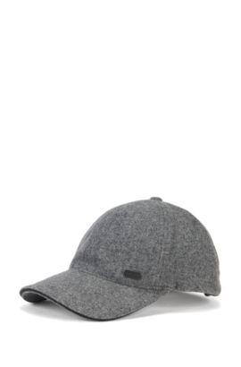 Cappellino da baseball in misto lana, Grigio