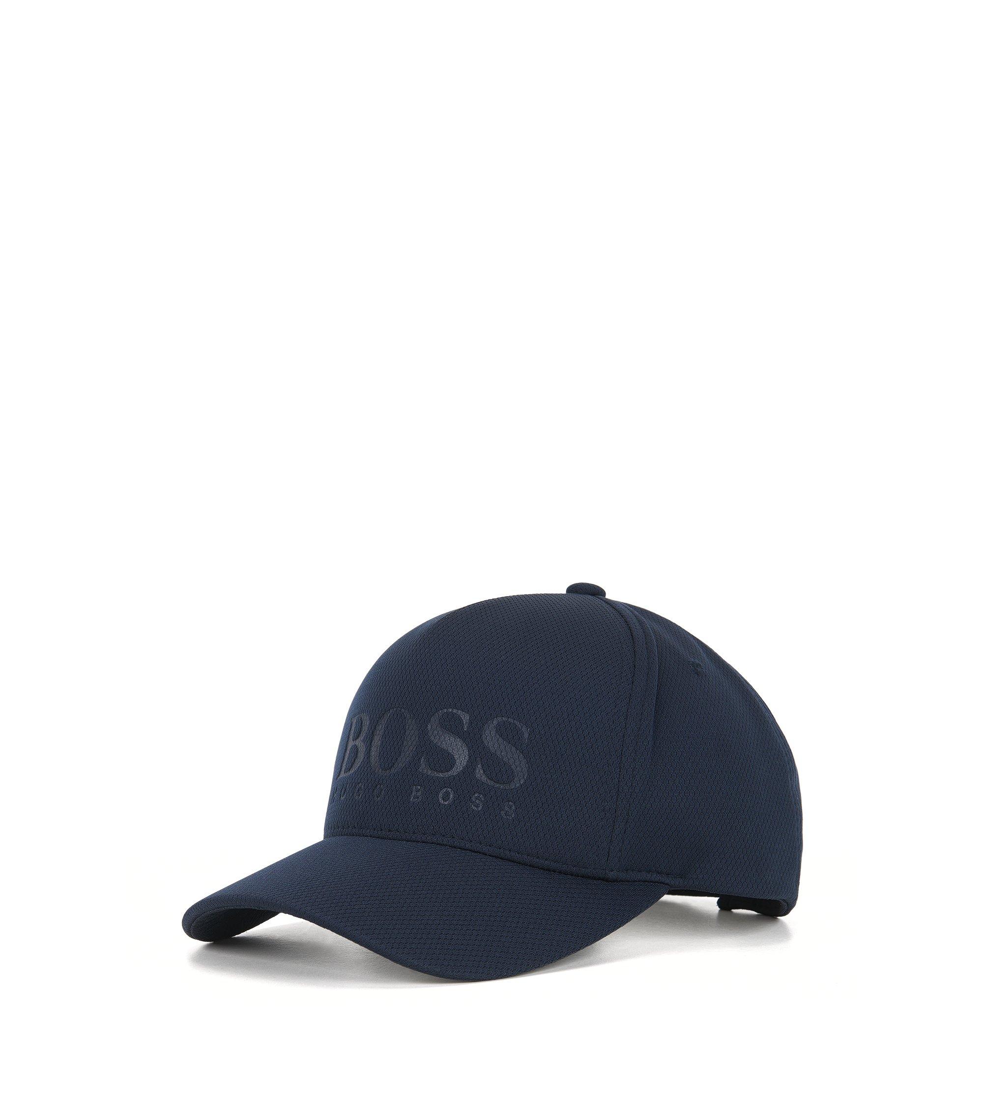Cappellino da baseball in tessuto tecnico a nido d'ape, Blu scuro