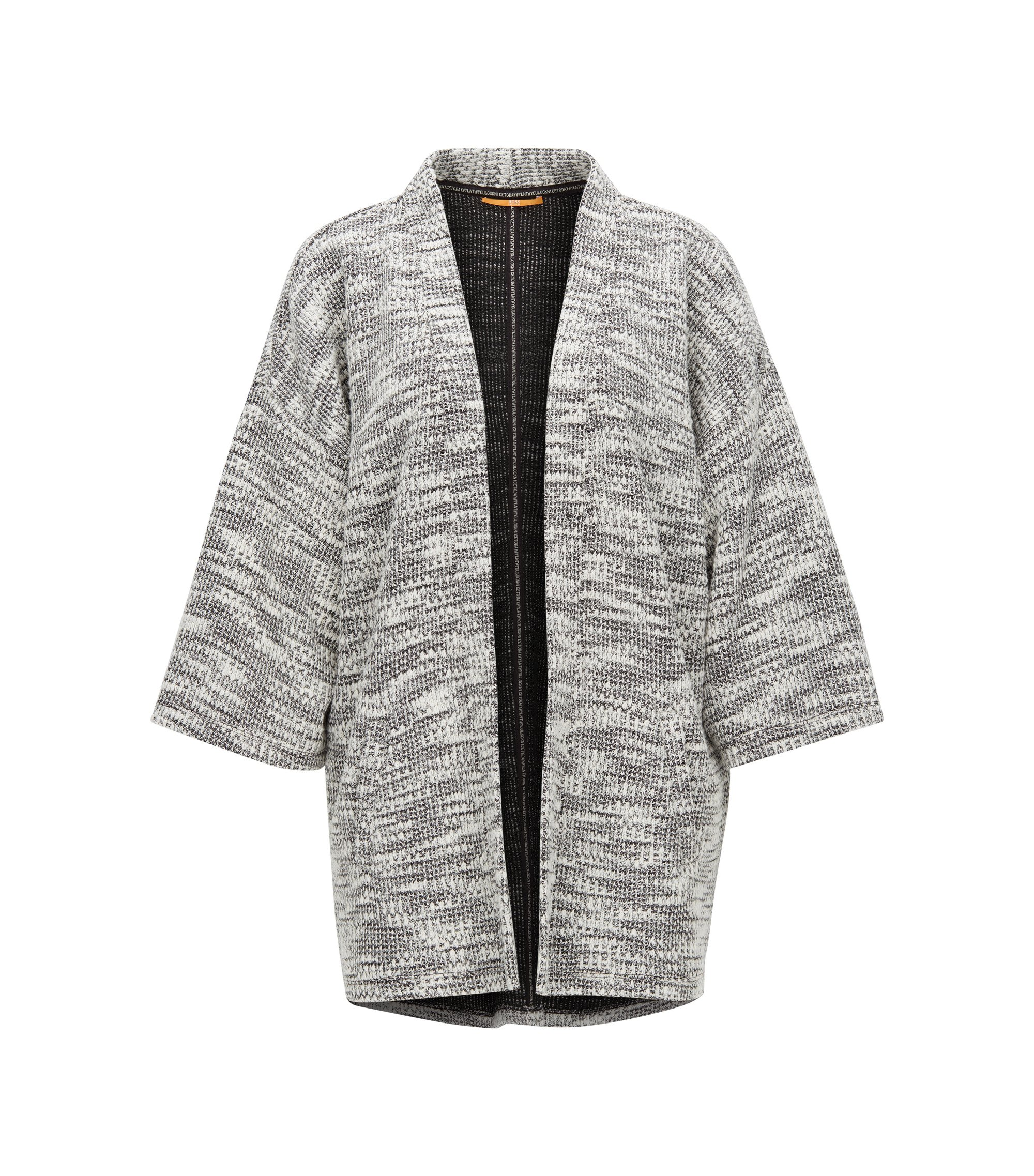 Cardigan con maniche a kimono in maglia a trama grossa, A disegni