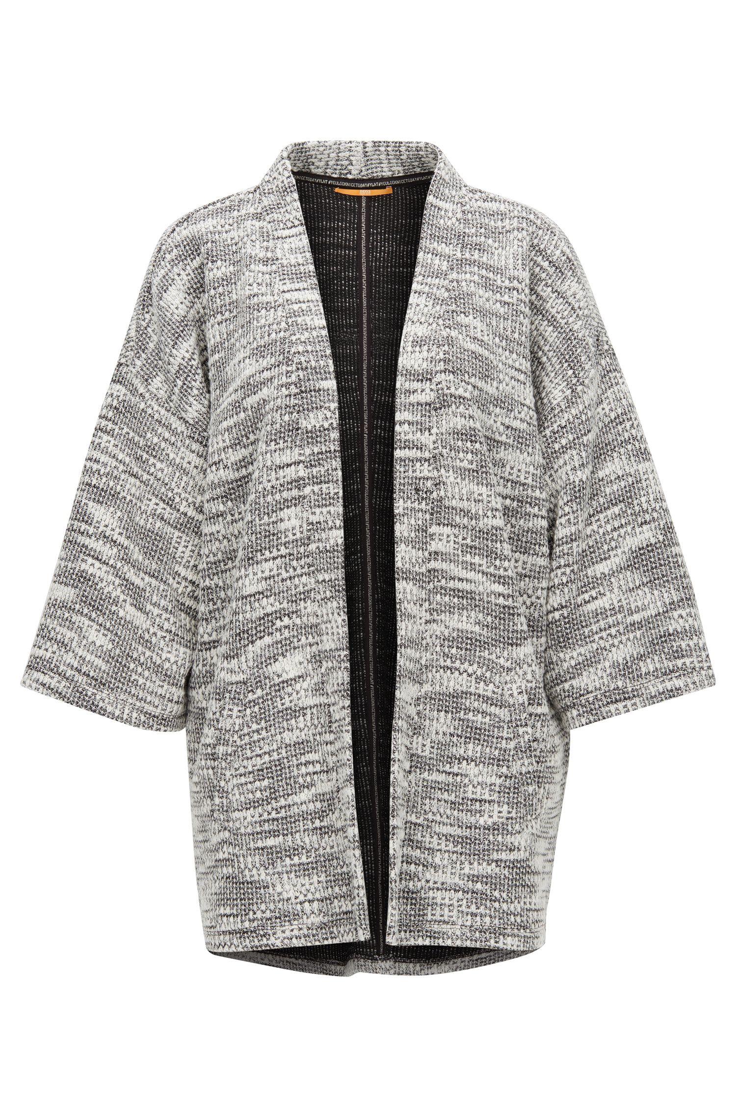 Chunky-knit kimono-sleeved cardigan