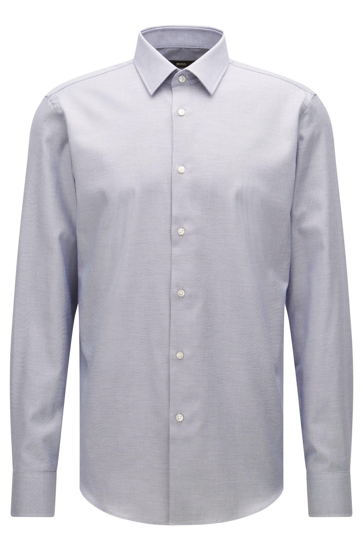Regular-fit shirt in Egyptian cotton