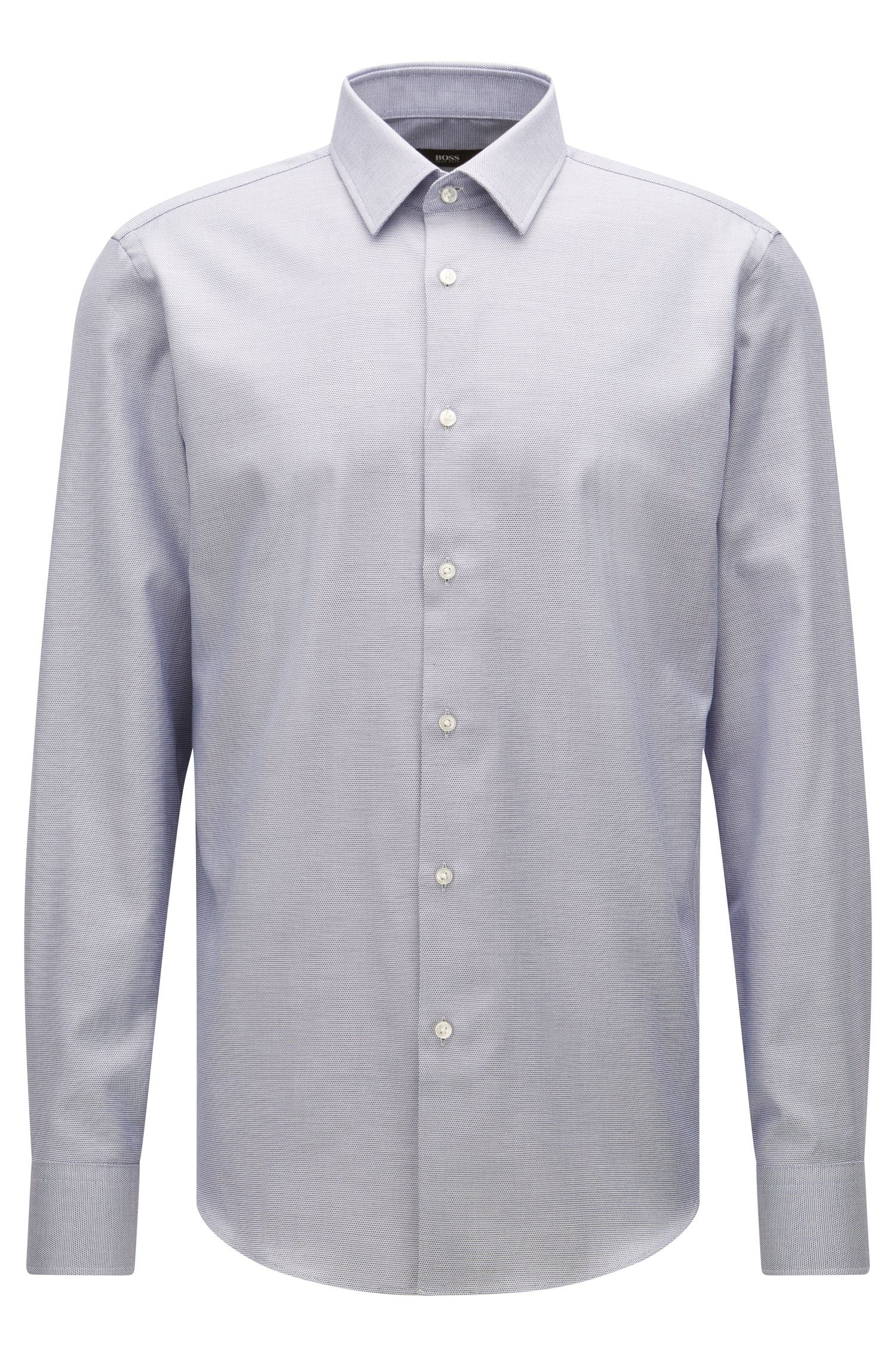 Regular-fit shirt in Egyptian cotton