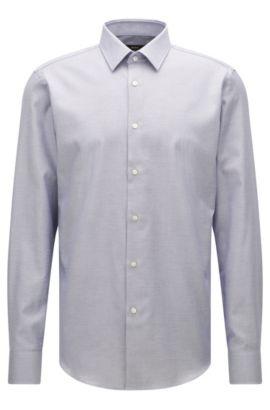 Camicia regular fit in cotone egiziano, Celeste