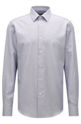 Regular-fit shirt in Egyptian cotton, Light Blue