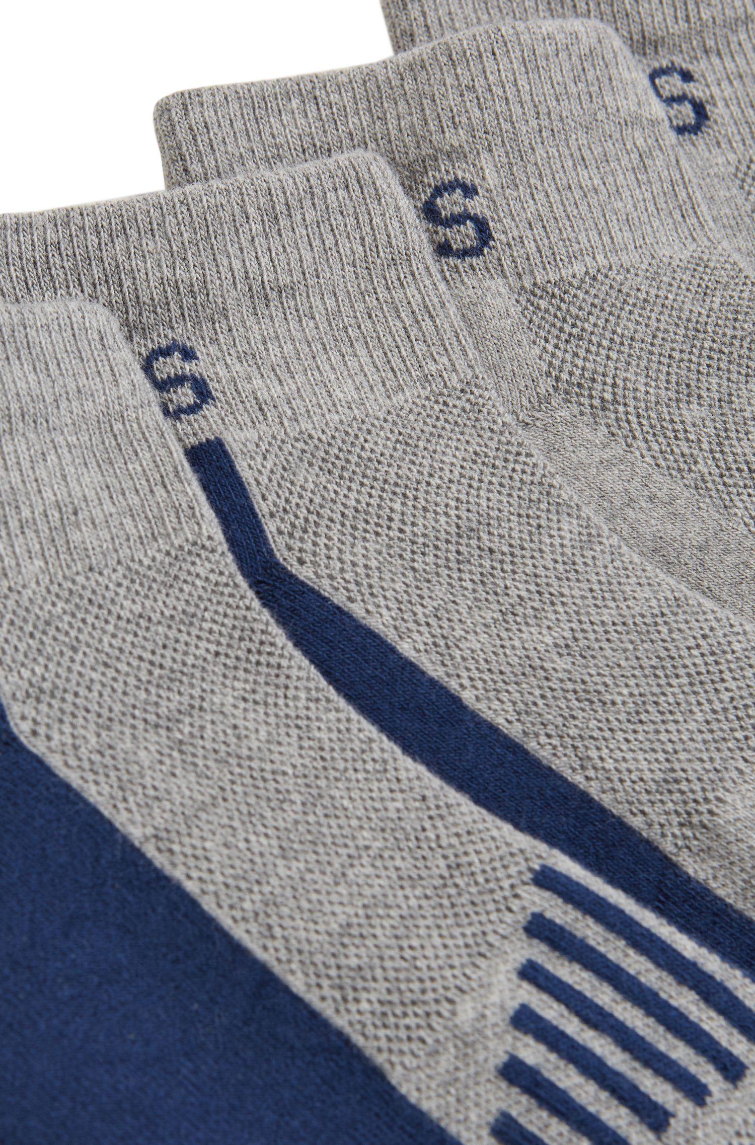 Paquete de dos pares de calcetines tobilleros en piqué con almohadillado