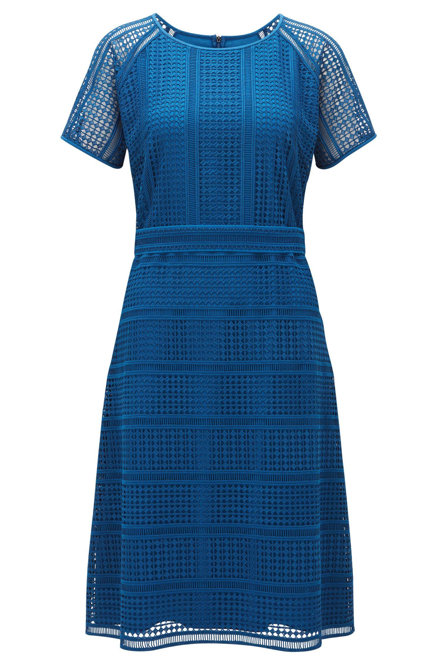 Regular-fit jurk van grafisch kant