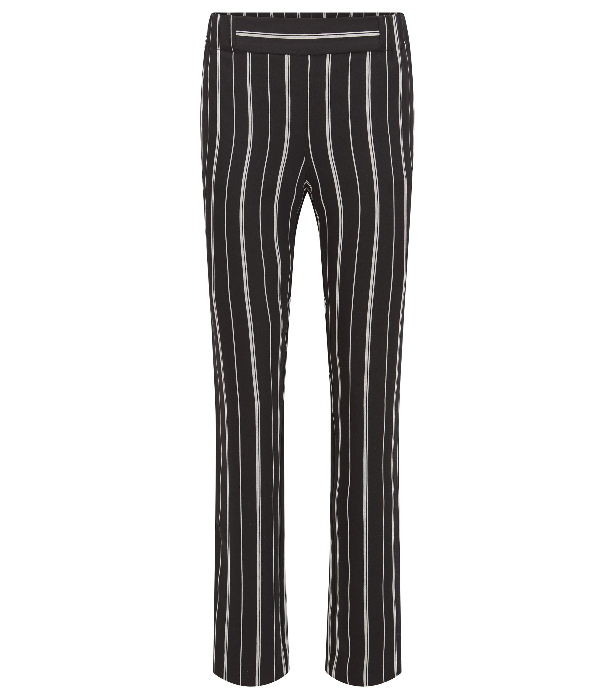 Striped jersey trousers in a regular fit, Patterned