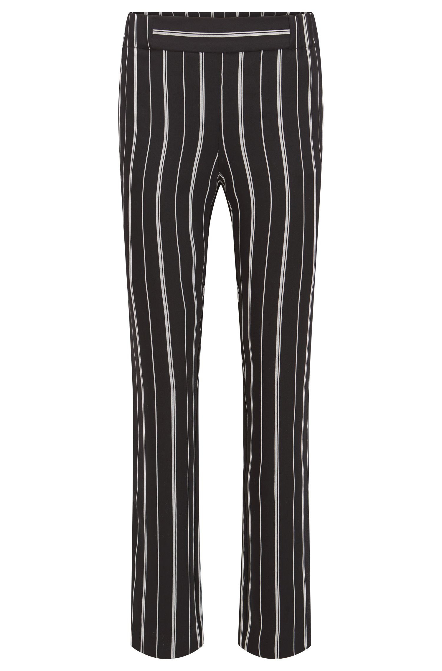 Striped jersey trousers in a regular fit