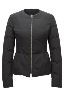 Reversible down jacket with darted waist, Black
