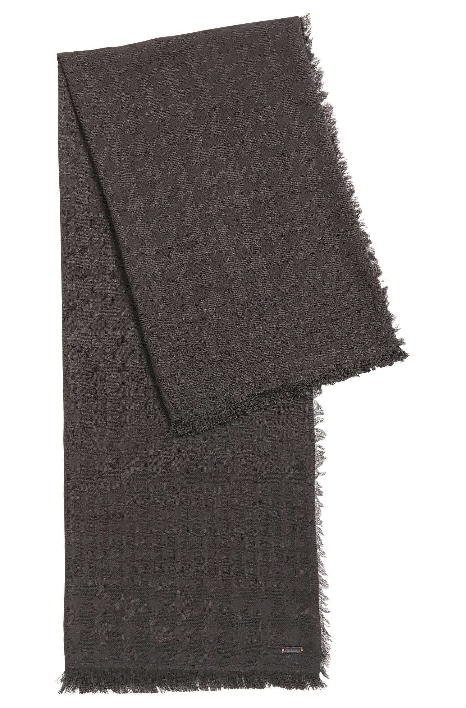 Hahnentritt-Schal aus Modal-Mix mit Wolle