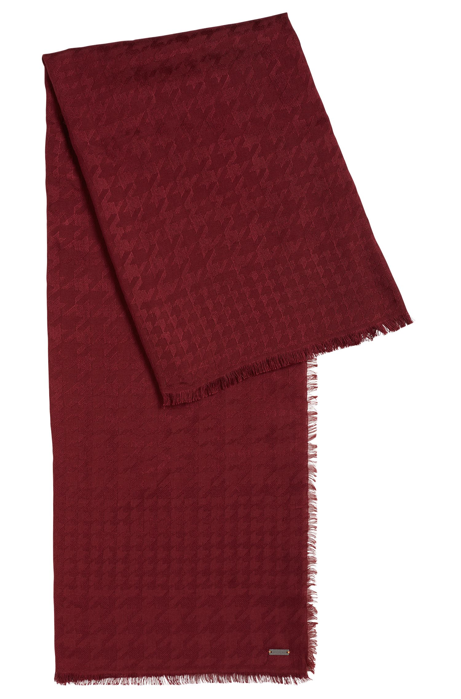 Houndstooth scarf in a modal-wool blend