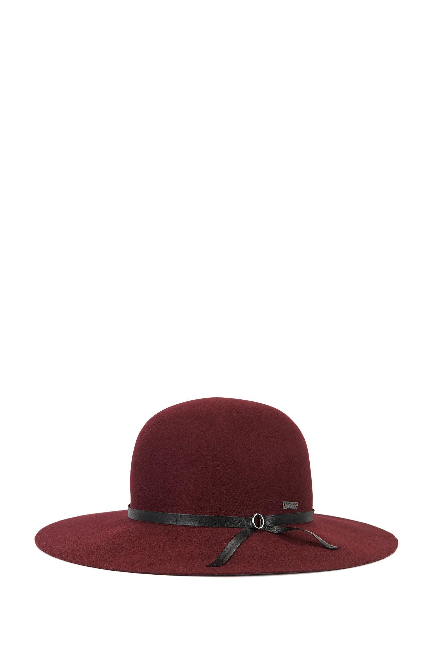Wollen hoed met brede rand