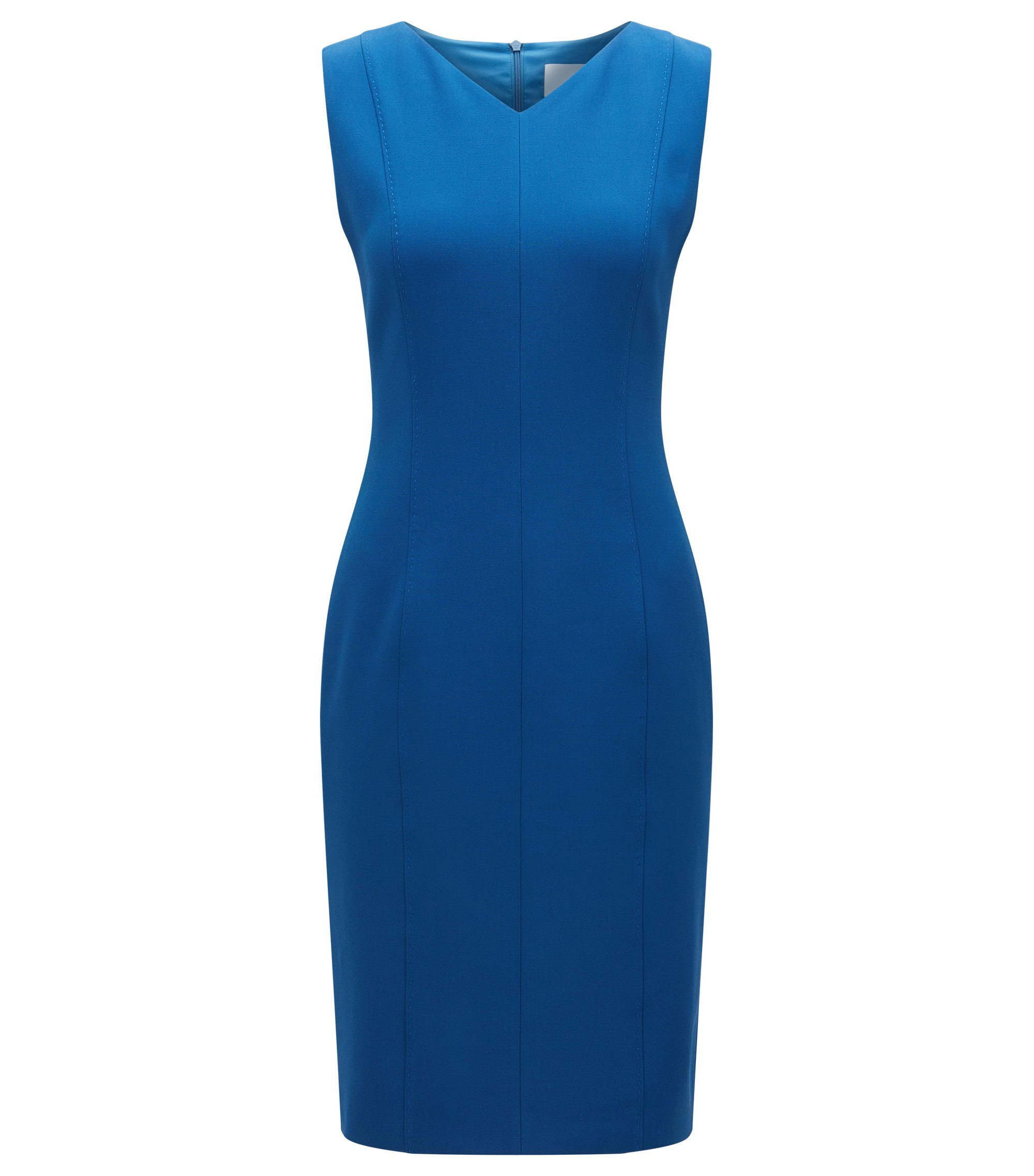 Shift dress in stretch fabric, Blue