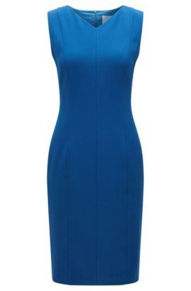 Shiftdress van stretchmateriaal, Blauw