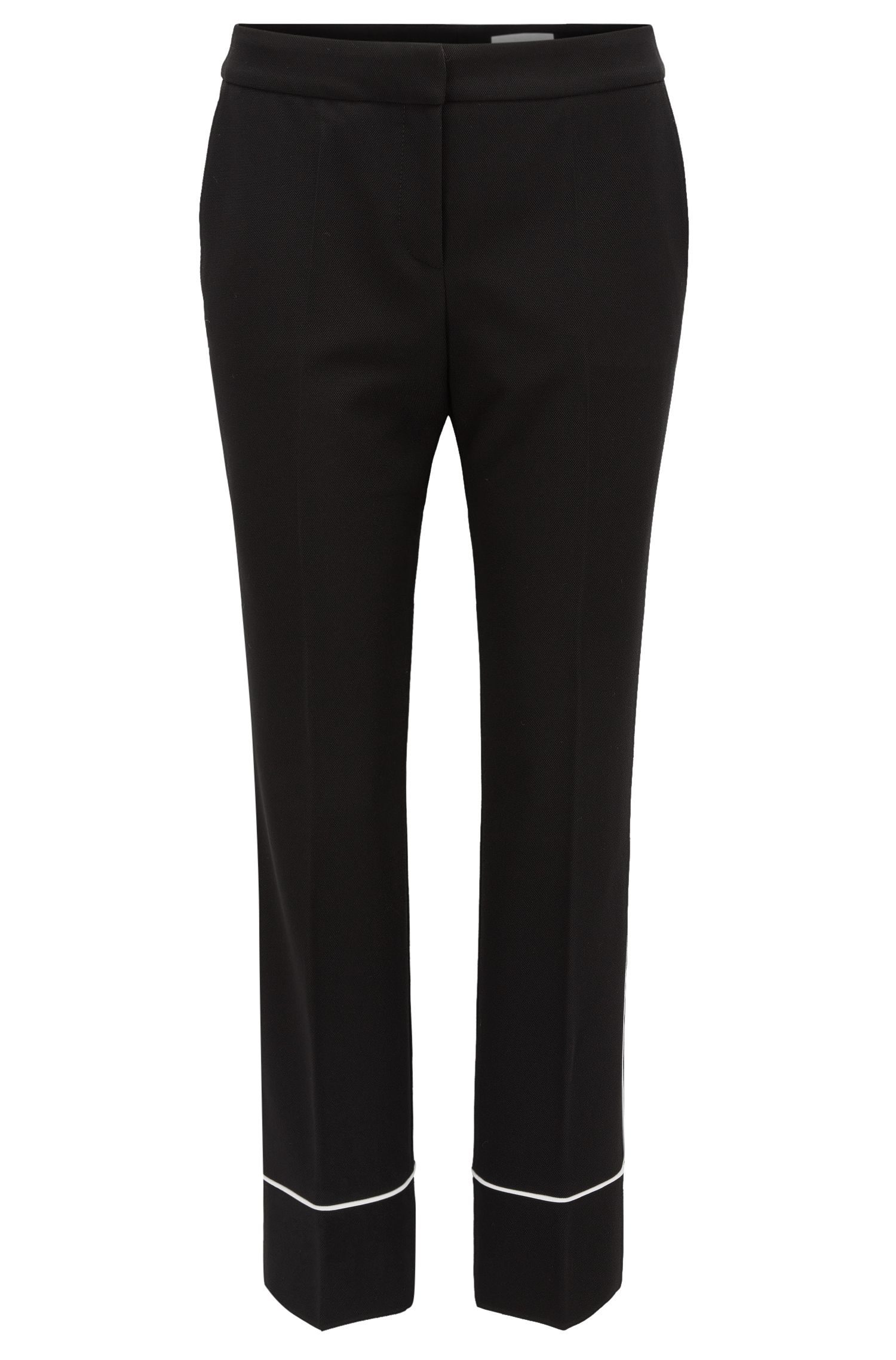 Relaxed-fit cropped trousers in soft jersey