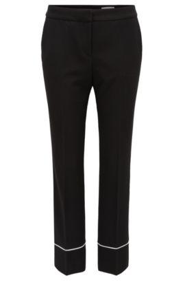 Pantalon raccourci Relaxed Fit en jersey doux, Noir