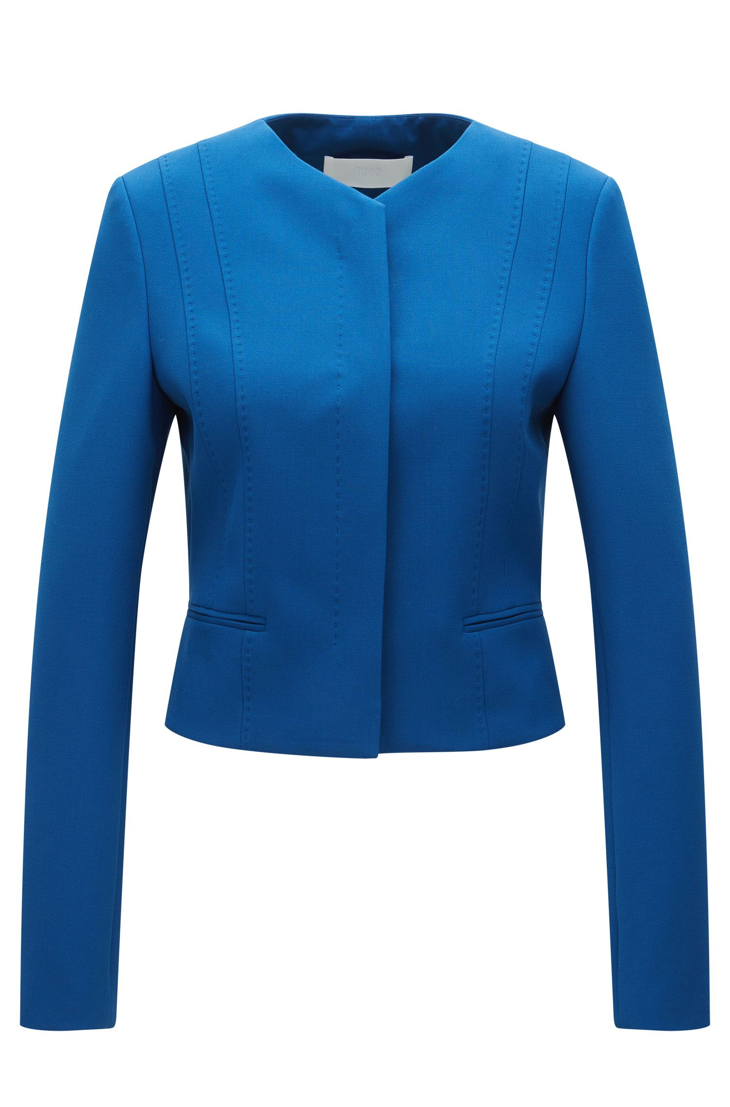 Regular-fit jacket in stretch fabric