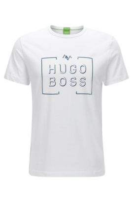 Camiseta regular fit en punto sencillo, Blanco