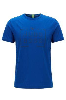 Camiseta regular fit en punto sencillo, Azul