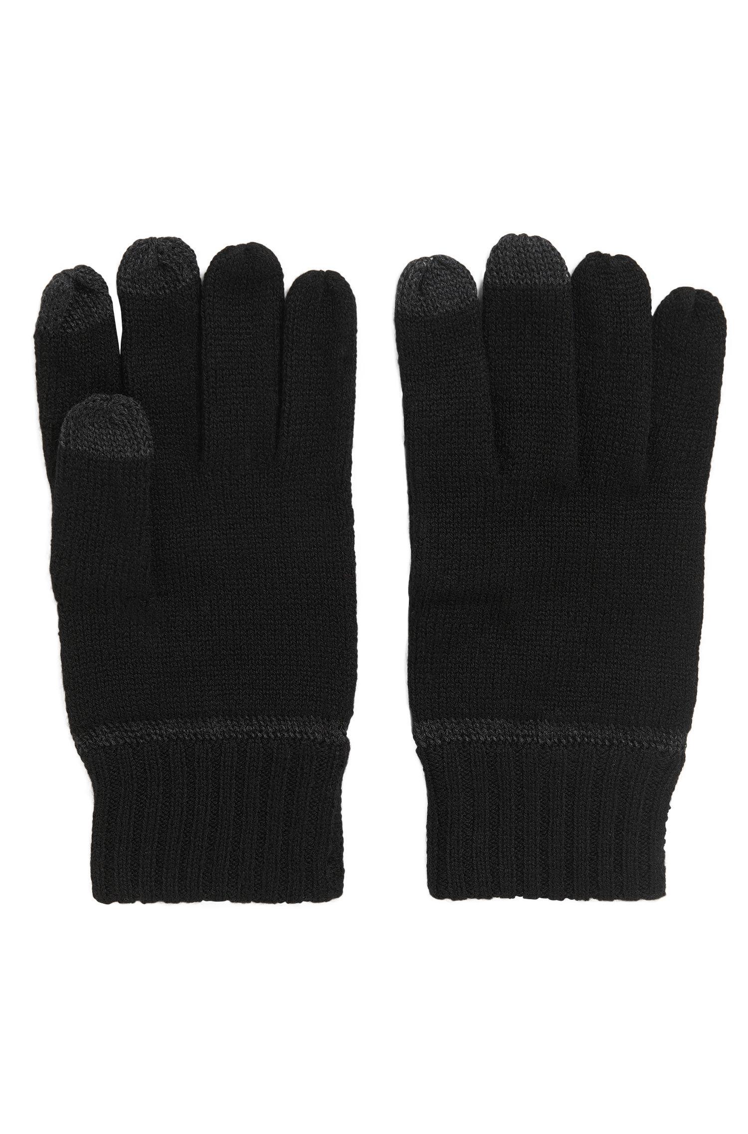 Touchscreen-Handschuhe aus Schurwoll-Mix