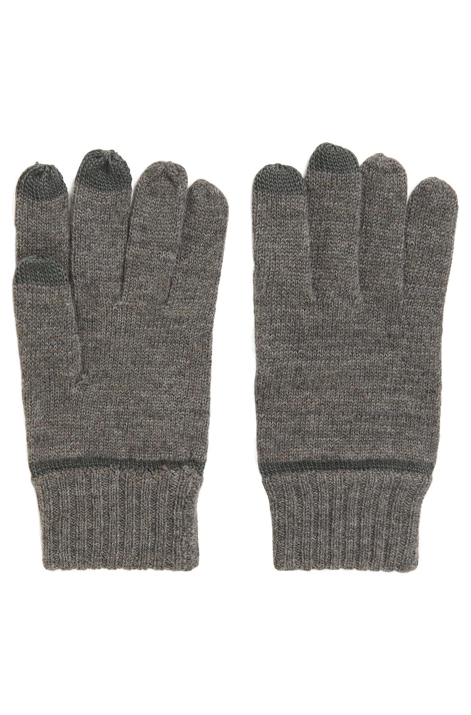 Gants en laine mélangée avec fonctionnalité écran tactile