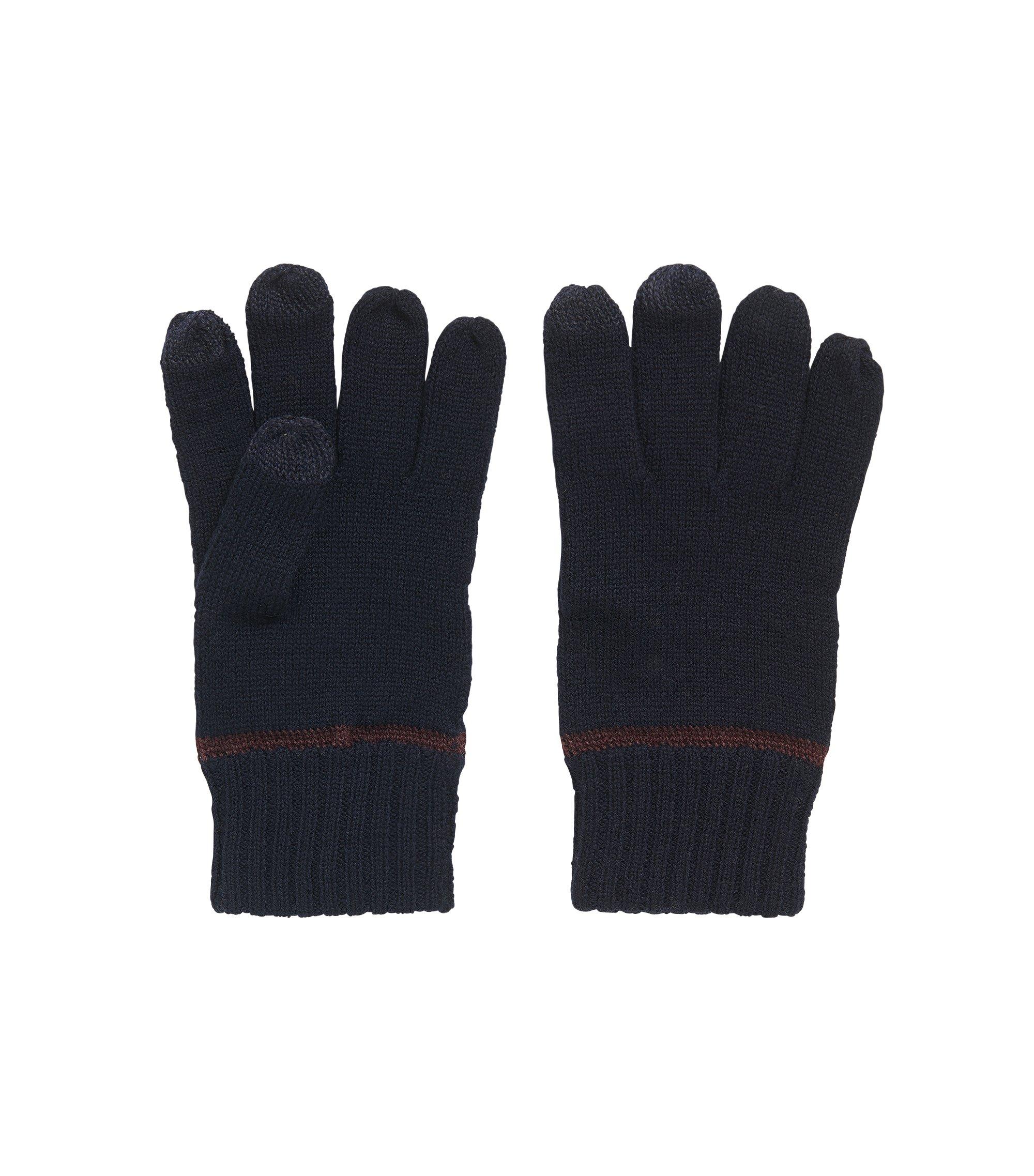 Handschoenen van een wolmix met touchscreen-functionaliteit, Donkerblauw
