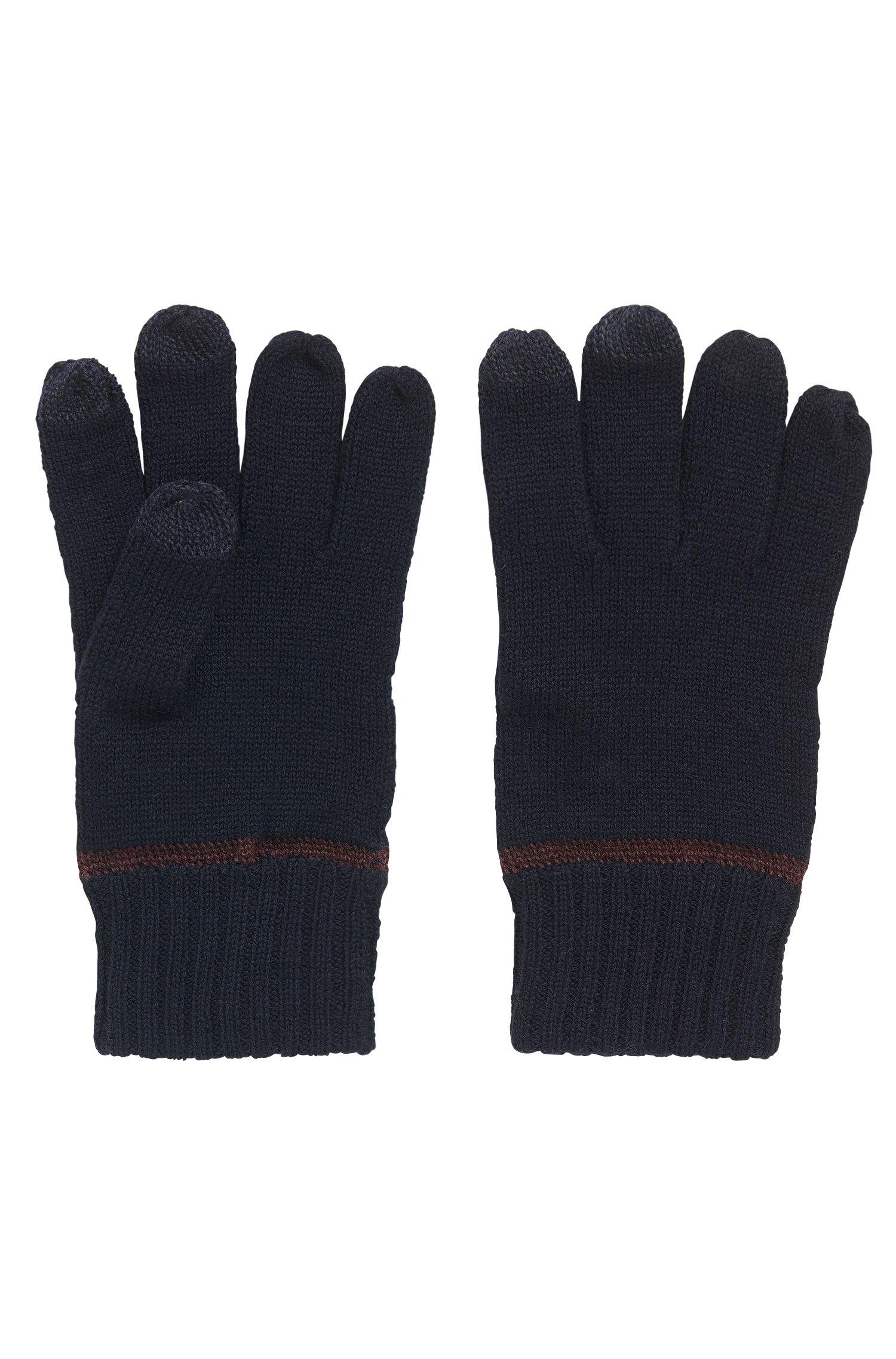 Guanti in misto lana con funzionalità touchscreen